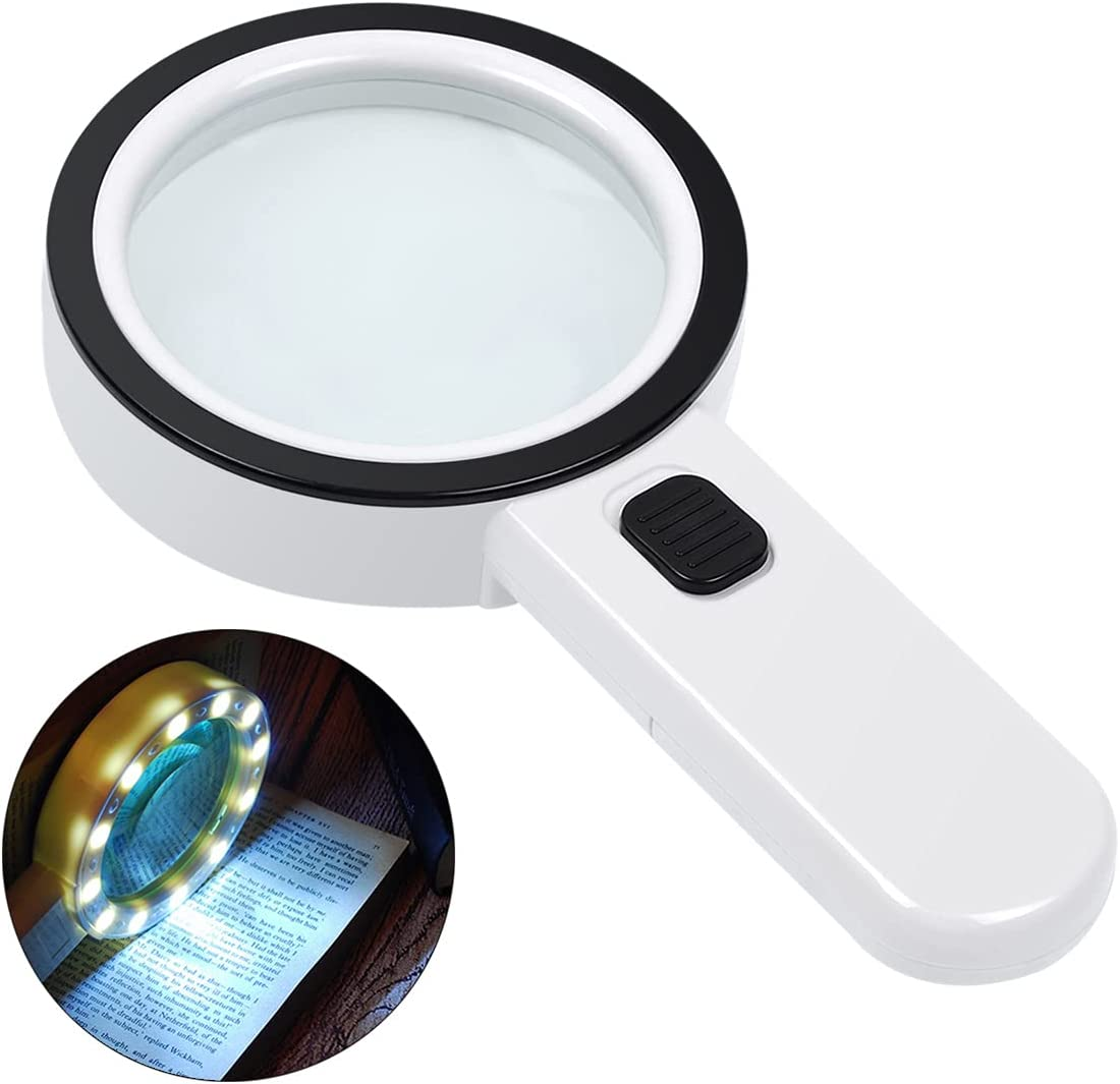 AIXPI Magnifying Glass with Light $14.44 Coupon