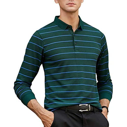 Orvis Mens Rugby Stripe Pique Polo//Rugby Stripe Pique Polo