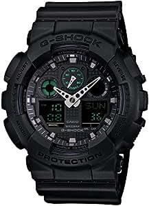 Casio G-Shock Analogue/Digital Mens Black Big Case Military Watch GA-100MB-1ADR