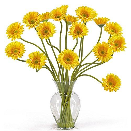 Liquid Arrangement Illusion (Gerber Daisy Liquid Illusion Flower Arrangement (Yellow) (21