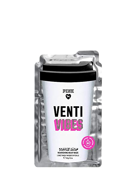 ff261822e697d Amazon.com: Victoria's Secret Pink Mask Venti Vibes Coffee Shop ...