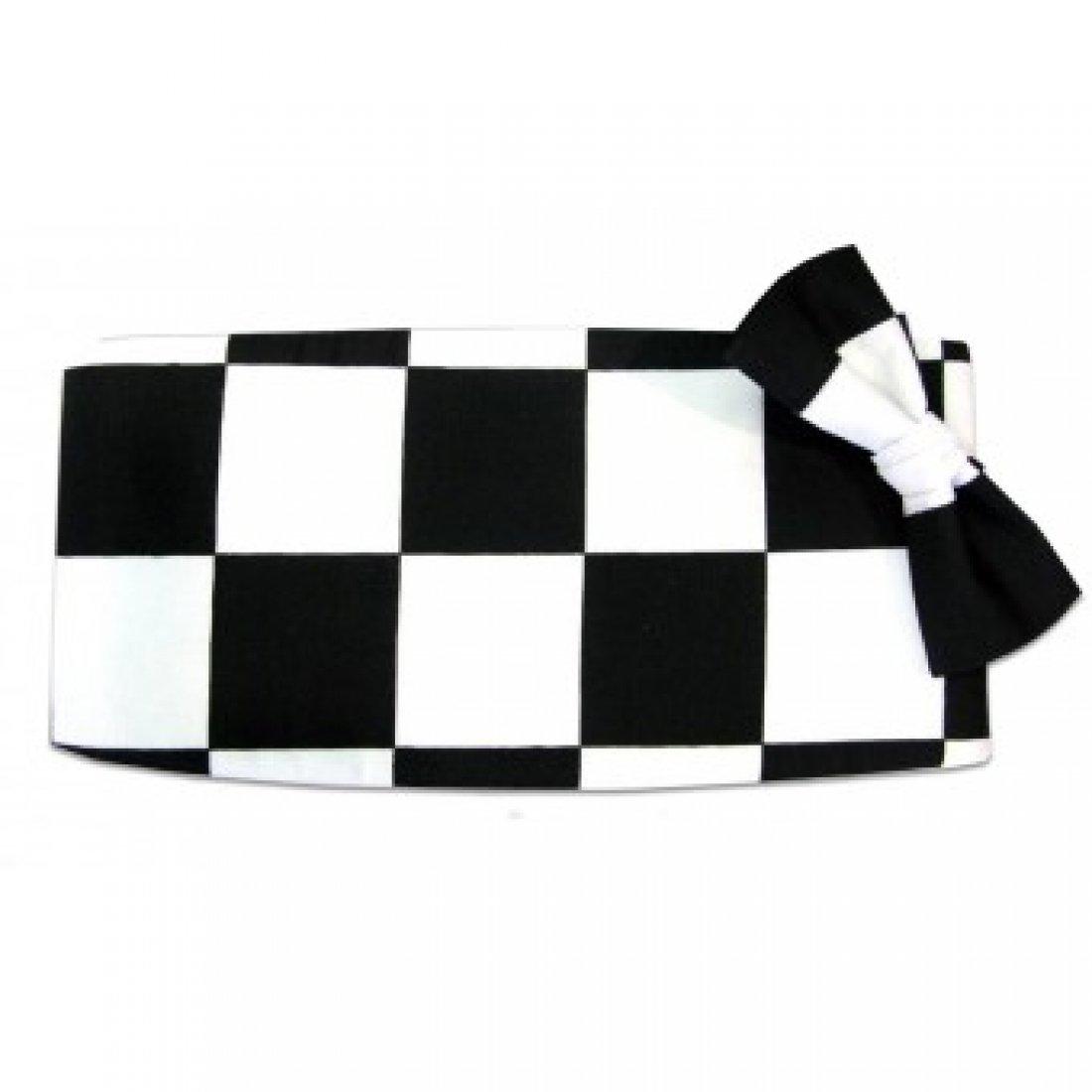 Victory Racing Flag Tuxedo Cummerbund and Bow Tie by David's Formal Wear