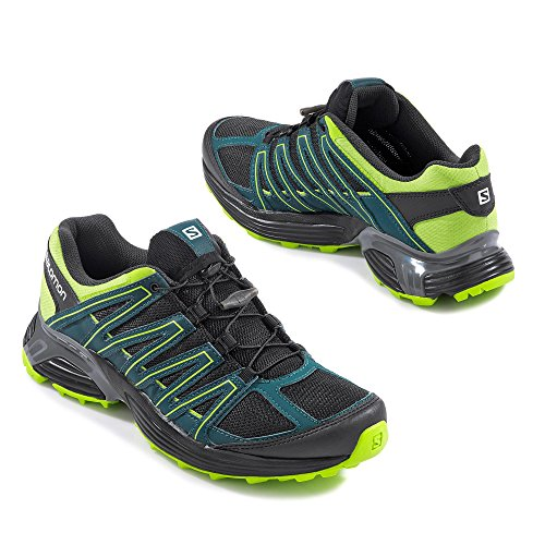 Salomon - Zapatillas de senderismo de Material Sintético para hombre PHANTOM/DEEP TEAL/LIME GREEN PHANTOM/DEEP TEAL/LIME GREEN