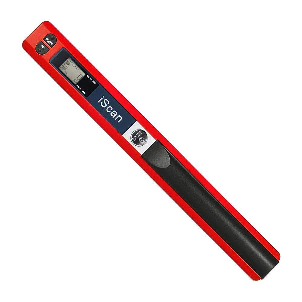 ECOiNVA iScan Scanner per Documenti bacchetta magica scanner portatile usb scanner mobili (Silver)