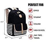 FLYMEI Girls Backpack, Canvas Backpack for School