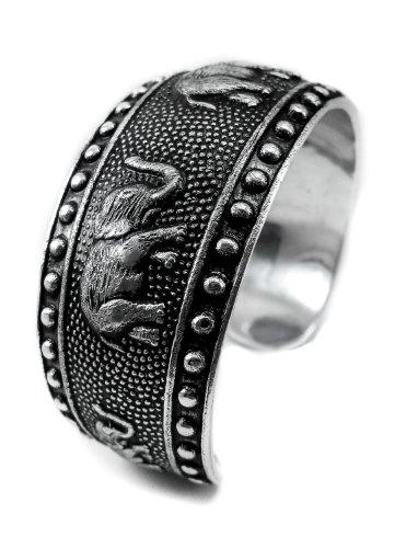 elephant bracelet hair bracelets for men sterling lucky bangle good luck cuff (Avon Strand Earrings)
