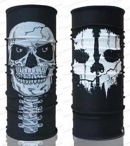 Call of Duty & Skeleton Skull Mask Scarf Bandana Multi Functional Headwear Biker Bb Gun Fishing Angler Extreme Motocross by Tamegems Headwear