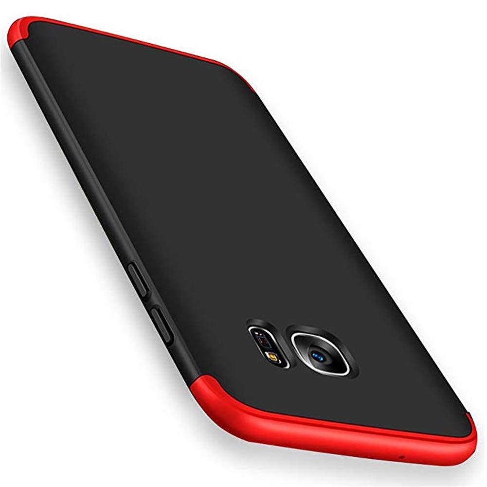 3800b90092d Biter Samsung Galaxy s6/s6 Edge Ultra-Delgada de Dura de La PC Cubierta de  360°Caja Protectora Anti-Rasguños Estuche Para Case (Galaxy s6, Rojo +  Negro): ...