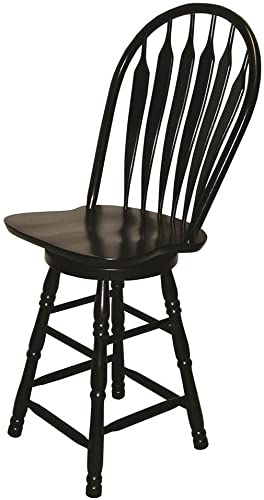 Sunset Trading 30 in. Swivel Barstool Antique Black