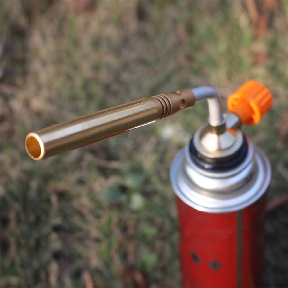 Lixada Outdoor Camping Burner Butane Gas Torch Kitchen Blow Lighter Soldering Welding Torch Culinary Torches Picnic BBQ Tool Hand Ignition Camping Welding BBQ Welding Equipment