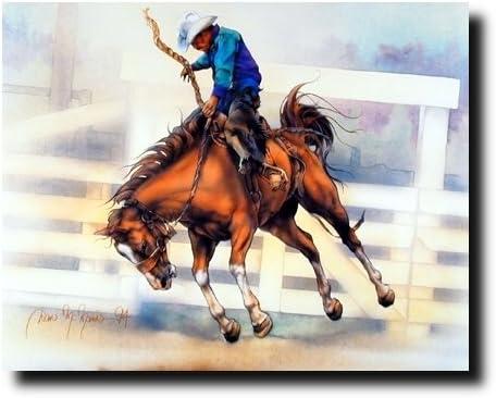 Western Cowboy Rodeo Horse Riding 16x20 Set Wall Decor Art Print Poster