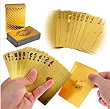 LLF Luxury 24K Gold Foil Poker Playing Cards Deck Carta de Baralho with Box Good Gift Idea by LLF