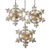 Kurt Adler 8-Inch 3-Piece Crystal Snowflakes