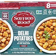 Saffron Road Delhi Potatoes Authentic Indian Aloo Matar 80 oz (8 Pouches of 10 oz)
