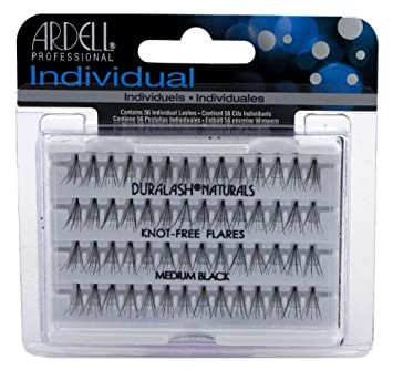 8c16b32b7e7 Amazon.com : Ardell Duralash Naturals Flares Knot-free Medium Black (56  Lashes) (Case of 6) : Fake Eyelashes And Adhesives : Beauty