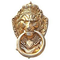 SouvNear Brass Door Knocker Lion Face in an Antique Finish Vintage Look Home Decor Accessories