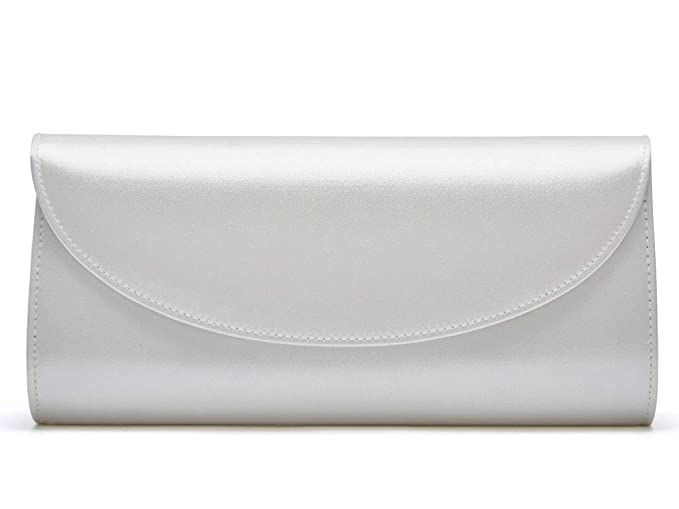 recognized brands diverse styles convenience goods Celina - Classic Ivory Satin Clutch Handbag: Amazon.co.uk ...