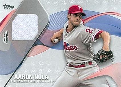 sale retailer d2391 93df1 Aaron Nola player worn jersey patch baseball card ...