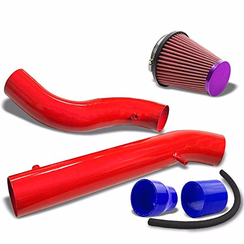 """3.00/"""" Polish Pipe Blue Cone Filter  Cold Air Intake Kit For 03-06 G35 3.5L V6"""
