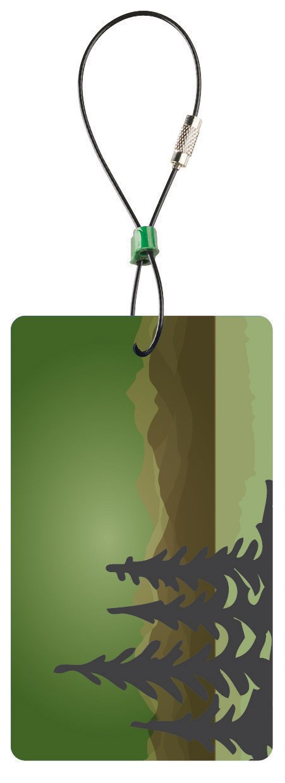 Clark Travel Green Luggage Tag Blue Lewis N Trees