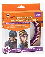 "Authentic Knitting Board Premium Round Loom Set, 3/8"" Gauge"