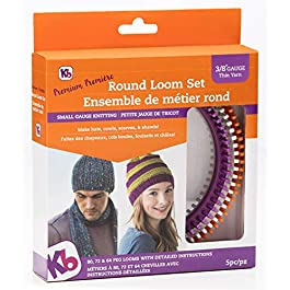Authentic Knitting Board 'Premium' Round Loom Set, 3/8″ Gauge