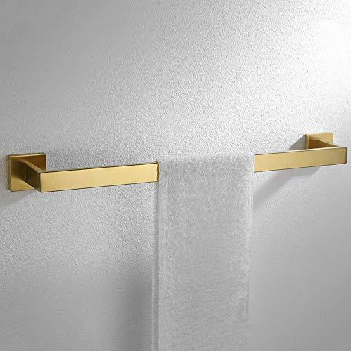 VELIMAX Stainless Steel Towel Bar Golden Towel Rail 23.6