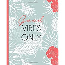 Tropical Vibes 8x10 Dot Grid Blank Notebook Journal 200 Pages