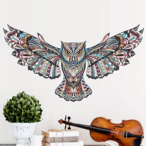 CHengQiSM Cute Cartoon Owl Removable Wall Stickers Letter Decals Removable Wall Decal Sticker Quote Wall Post Art Home Decor (Wall Stickers Owl)