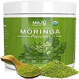 Cheap MAJU's Organic Moringa Powder: NON-GMO, Guaranteed Purest, 100% Raw Moringa Oleifera Leaf Powder made with Leaves, Works in Tea