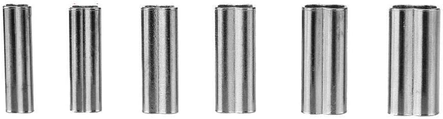 10mm Alomejor Barrel Crimp Sleeves L/ínea de Pesca Tubo Lat/ón de Alta Resistencia Conector de Tubo de Cobre Di/ámetro Interior 1.2mm