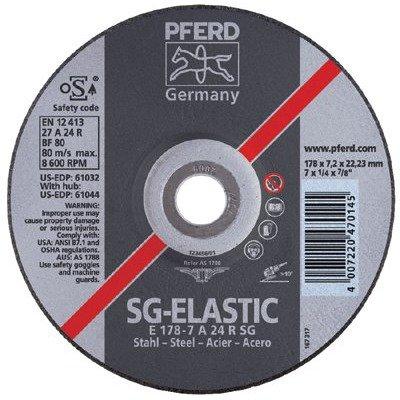 6600 RPM 9 Diameter x 1//4 Thickness 24 Grit PFERD 61047 Performance line SG Grinding Wheel Aluminum Oxide Type 27 5//8-11 Thread