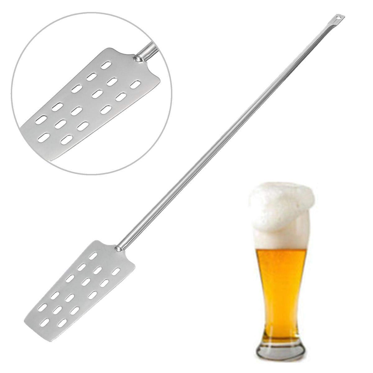 zilzol 316 Stainless Steel Wine Mash Tun Mixing Stirrer Paddle Homebrew With 15 Holes Wine Making Tools