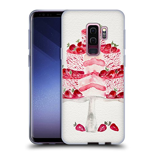 (Official Cat Coquillette Strawberry Shortcake Sweets Soft Gel Case for Samsung Galaxy S9+ / S9 Plus)