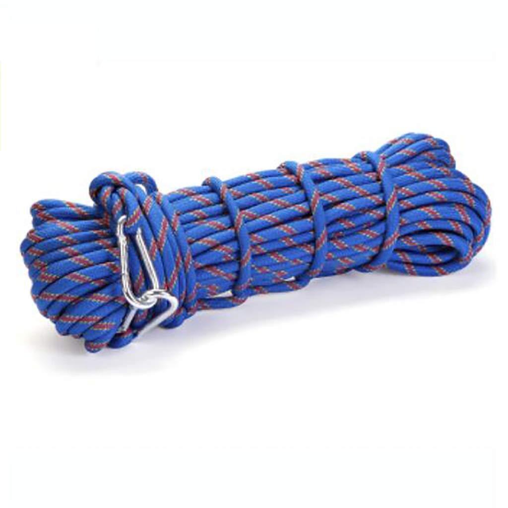 HAMIMI Corde d'escalade Corde auxiliaire de Corde de sécurité de Haute Altitude Corde de sécurité Porter 10mm diamètre Longueur 10-100m Corde (Taille   15M) 100M