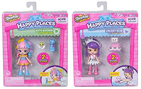 Shopkins Kids Happy Places Doll Single Pack Rainbow Kate & Happy Places Doll Single Pack Melodine Playset