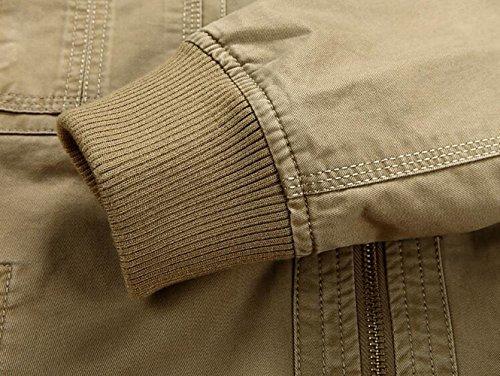 2232 chaqueta Chaqueta Khaki SZYYSD para hombre xFIan5q