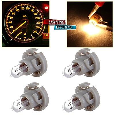 cciyu T4/T4.2 Neo Wedge Halogen A/C Climate Control Bulb Instrumnet Panel Dash Light,4Pack: Automotive