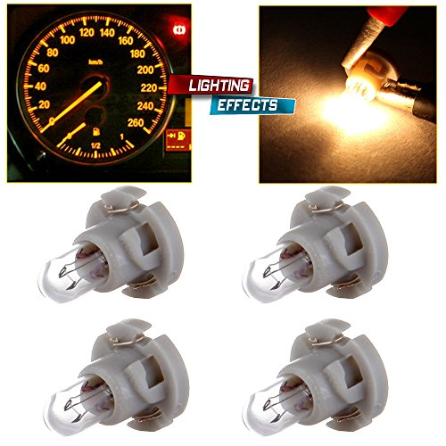 Ford Climate Control (cciyu T4/T4.2 Neo Wedge Halogen A/C Climate Control Bulb Instrumnet Panel Dash Light,4Pack)