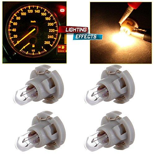 2002 Nissan Pathfinder Dash - cciyu T4/T4.2 Neo Wedge Halogen A/C Climate Control Bulb Instrumnet Panel Dash Light,4Pack