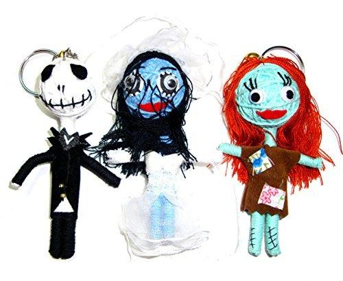 Jack Skellington, Sally, Emily Corpse Bride Ragdoll Triple Mini String Doll Night Before Christmas (The Corpse Bride Emily)