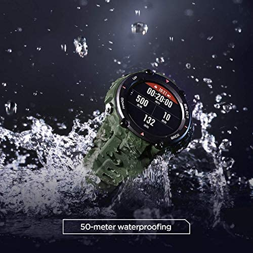 """Amazfit T-Rex Smartwatch, Military Standard Certified, Tough Body, GPS, 20-Day Battery Life, 1.3"""" AMOLED Display, Water Resistant, 14-Sports Modes, Khaki (W1919US2N) 51MCsp7j9bL"""