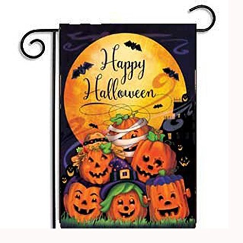 Price comparison product image Garden Flag,Elevin(TM)2017Hot New Custom Pumpkin Halloween Weatherproof Decoration Garden Flag 12x18 inch