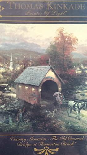 Thomas Kinkade Painter of Light 1000pc. Puzzle-The Old Covered Bridge at Thomaston Brook by Ceaco