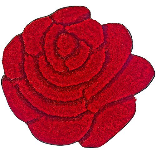 Super soft solid color area rug modern rose flower shaped shag cozy 35 floor mat with 3d - Cozy white shag rug for the comfortable steps sensation ...