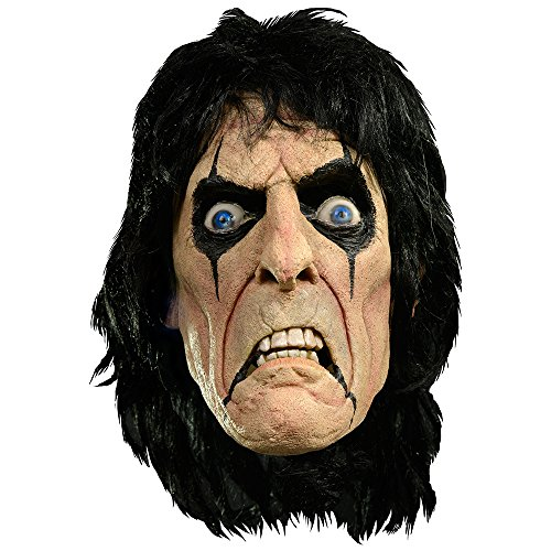 Alice Cooper Official Deluxe Latex Mask White