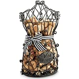 Epic Products Cork Cage Corset, 13-Inch, Black