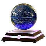 Kabaddi Magnetic Floating Globe Anti-Gravity Rotating Levitating Globe World Map with Star Constellation & Zodiac Display for Home Office Desk Decor, Birthday Gift (6 inch Navy Blue)