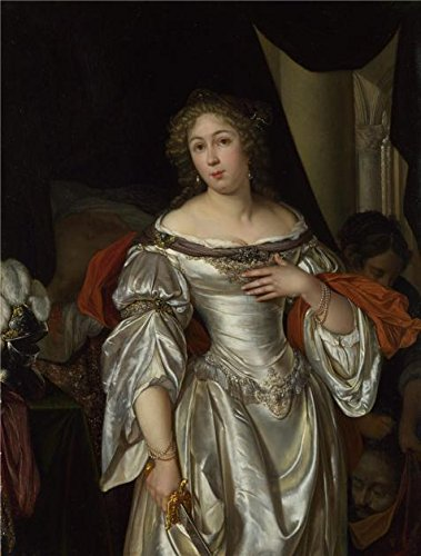 'Eglon Hendrik Van Der Neer - Judith,about 1678' Oil Painting, 8x11 Inch / 20x27 Cm ,printed On High Quality Polyster Canvas ,this High Definition Art Decorative Prints On Canvas Is Perfectly Suitalbe For Dining Room Gallery Art And Home Gallery Art And Gifts