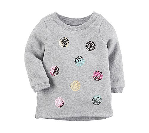 Carter's Baby Girls' Baby Girls Multi Dot Sweatshirt 18 (Dot Crew Sweatshirt)